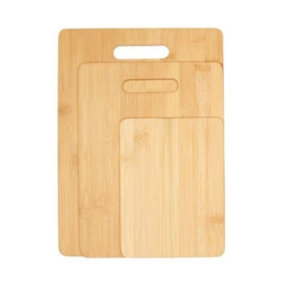 Bamboo Cutting Boards - Round Or Handle-3 Piece Handle-Daily Steals