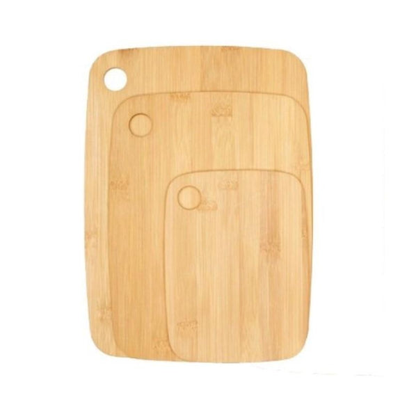 Bamboo Cutting Boards - Round Or Handle-3 Piece Round-Daily Steals
