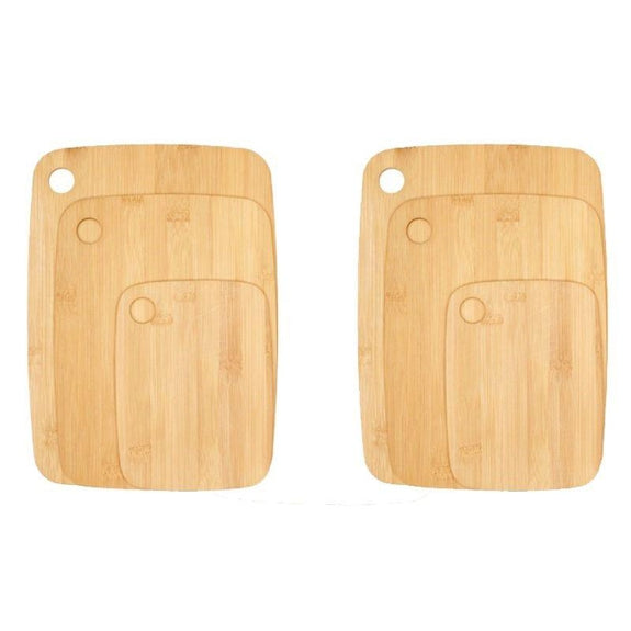 Bamboo Cutting Boards - Round Or Handle-6 Piece Round-Daily Steals