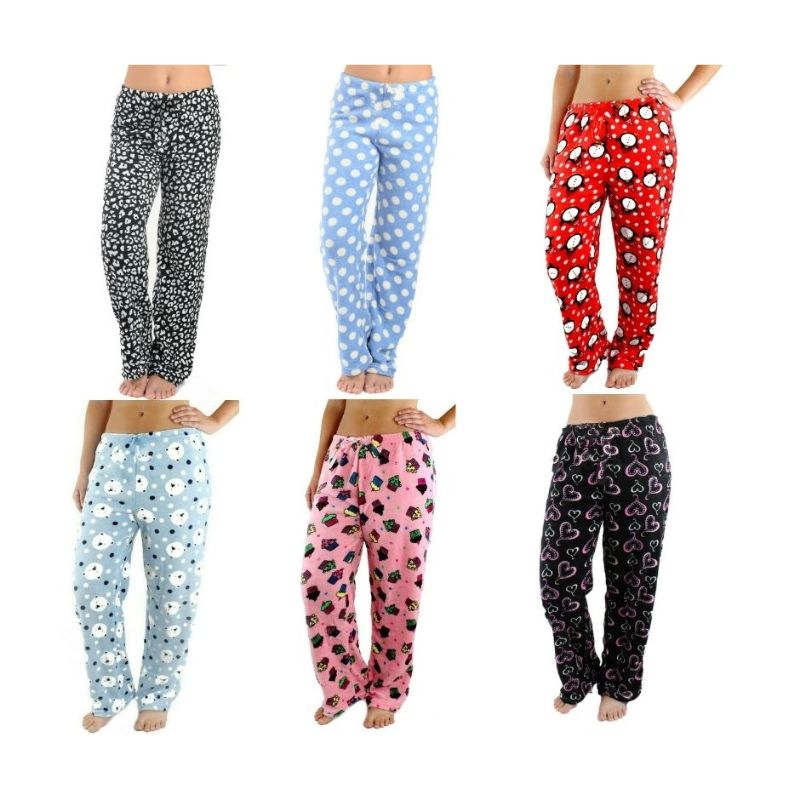 Women's Assorted Soft & Plush Pajama Pants - 3 Pack-S/M-Daily Steals
