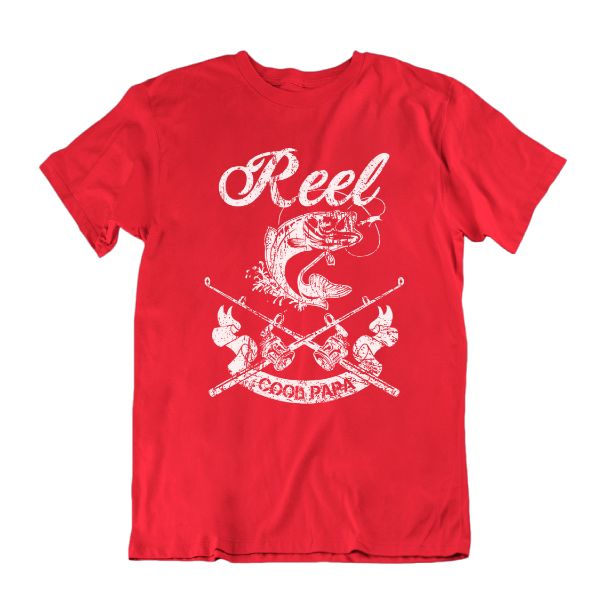 Reel Cool Papa' Funny Fishing T Shirt-Red-S-Daily Steals