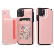 iPM Apple iPhone 11, Pro, Pro Max PU Leather Purse Protective Case-Rose Gold-iPhone 11-Daily Steals