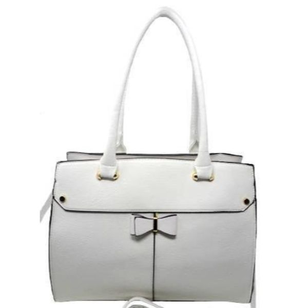 Women Leather Shoulder Vintage Tote Handbag-White-Daily Steals