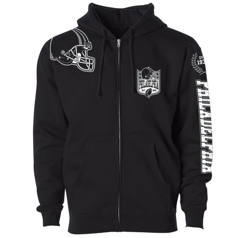 Women's Football Home Team Zip Up Hoodie-L-Philadelphia-Daily Steals