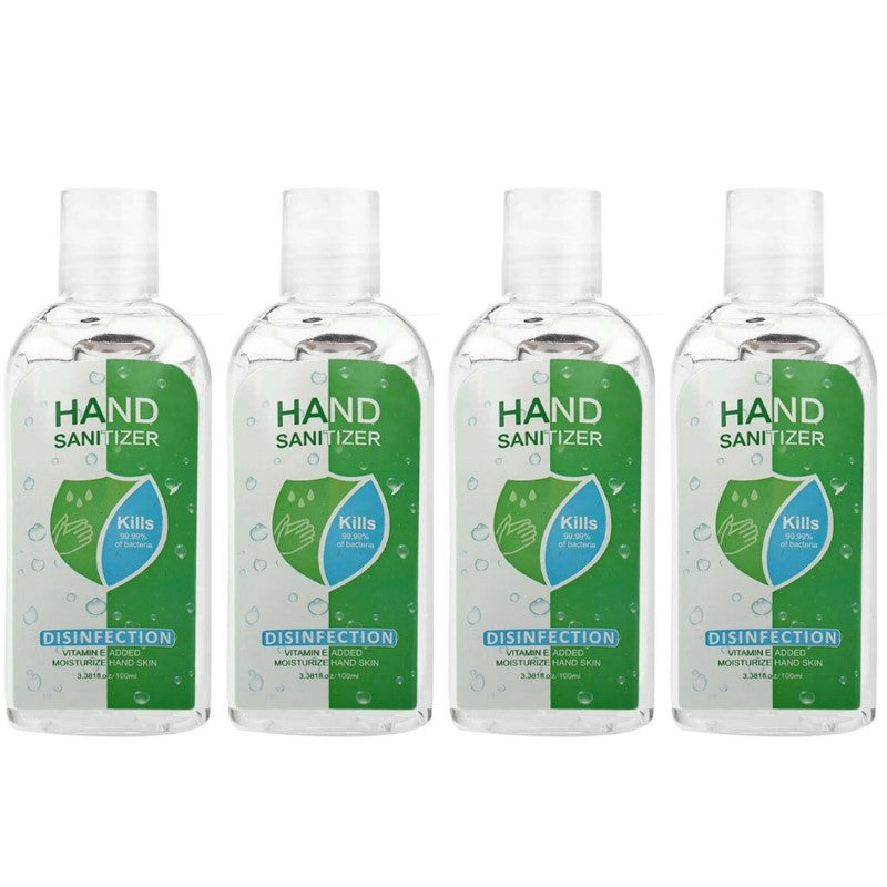 Hand Sanitizer Antiviral Antibacterial Disinfection 3.38 Oz - 4 Pack-Daily Steals