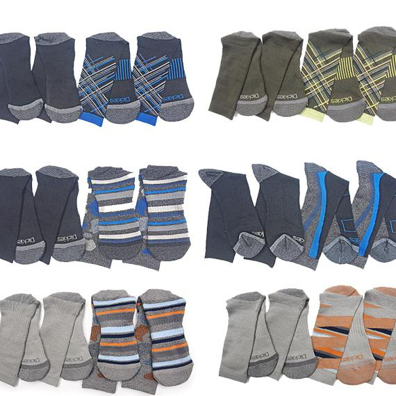 Daily Steals-[4-Pairs] Dickies Men's Action Crew Performance Socks - Assorted Colors-Men's Apparel-