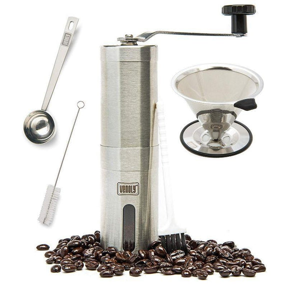 4-Piece Stainless Steel Coffee Grinder and Dipper Set-Daily Steals
