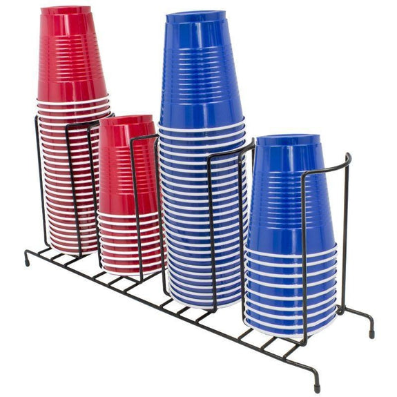 4-sectional Black Cup and Lid Organizer-Daily Steals
