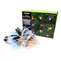 40 LED Solar Powered Dragonfly Garden String Lights - 2 Pack - 19ft Each-
