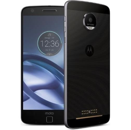 Daily Steals-Motorola Moto Z Droid 4G LTE with 32GB Memory Cell Phone (Verizon and GSM Unlocked)-Cellphones (refurbished)-Black and Lunar Grey-