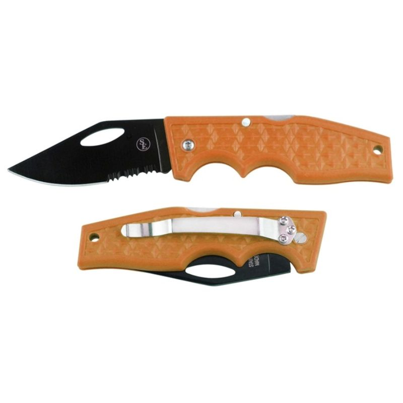 Lockback Pocket Knife with Metal Clip and Stainless Steel Blade-Orange-Daily Steals