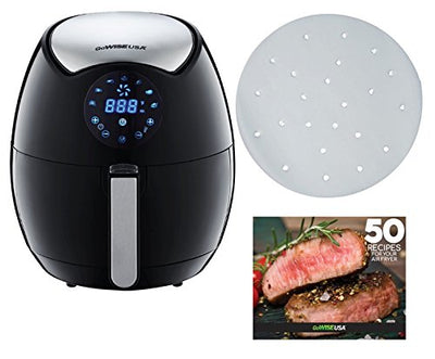 Daily Steals-GoWise 3.7Qt Touch Screen Digital Air Fryer w/ 100 Sheets of Parchment Paper-Home and Office Essentials-