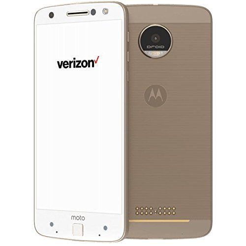 Motorola Moto Z Droid 4G LTE with 32GB Memory Cell Phone (Verizon and GSM Unlocked)-White and Fine Gold-Daily Steals
