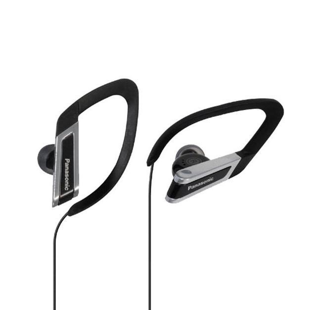Panasonic In-Ear Water-Resistant Sport-Clip Earbud Headphones with Clear Sound Cord Management - Black-Daily Steals