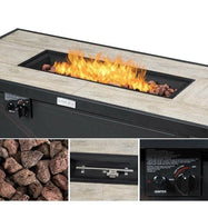 "42"" 60,000 BTU Rectangular Propane Gas Fire-Daily Steals"