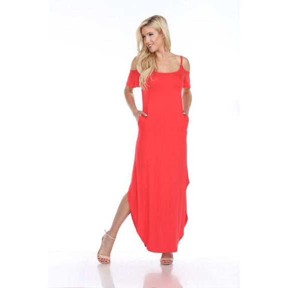 WhiteMark 'Lexi' Maxi Dress-Red-Large-Daily Steals
