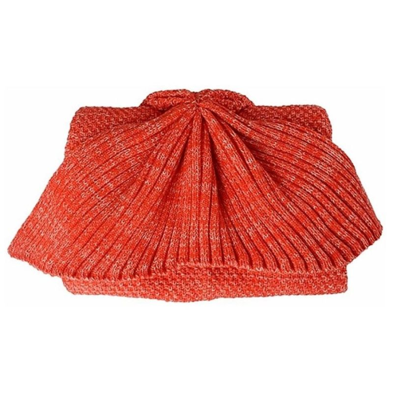 Mermaid Tail Knit Crochet Warm & Soft Blanket for Kids and Adults-Adults-Red, Regular-Daily Steals