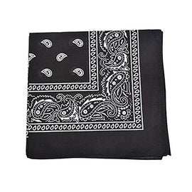 [6 or 12 Pack] Mechaly Paisley 100% Cotton Unisex Bandanas -  22