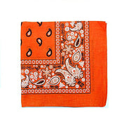 "[6 or 12 Pack] Mechaly Paisley 100% Cotton Unisex Bandanas - 22"" x 22""-Orange-6 pack-Daily Steals"