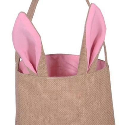 Cute Bunny Ears Easter Tote Bag - 2 Pack-Pink-Daily Steals