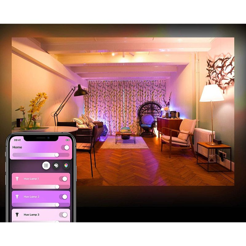 Philips Hue and Color Ambiance A19 LED Smart Bulb - 2 Pack-Daily Steals