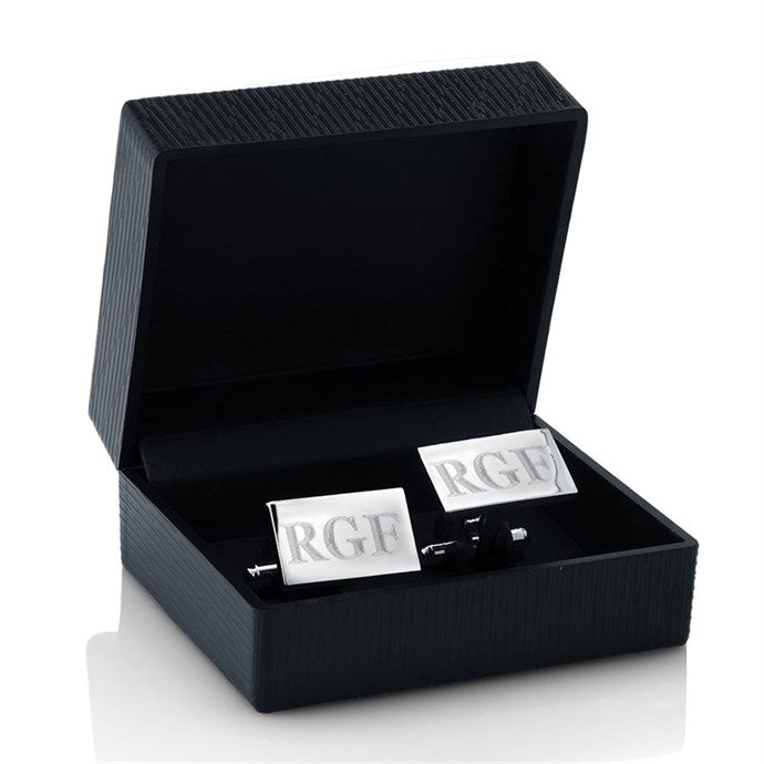 Stainless Steel Monogram Cufflinks with FREE Gift Box-Daily Steals