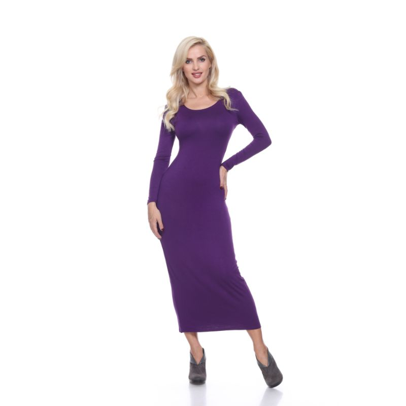 WhiteMark 'Ria' Dress-Purple-L-Daily Steals