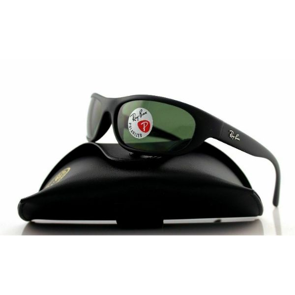 Ray-Ban Predator Polarized Sunglasses RB4033 601S48 Matte Black W/ G-15 Green-Daily Steals