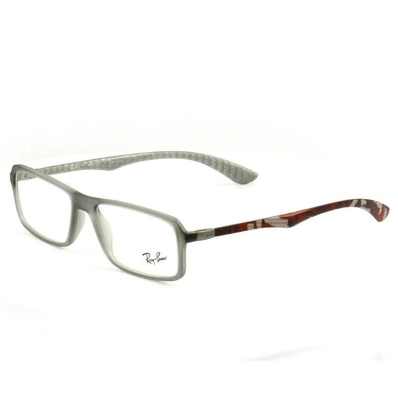 Ray Ban Eyeglasses RX 8902-5481 Clear Gray Red Orange Acetate 54 17 145