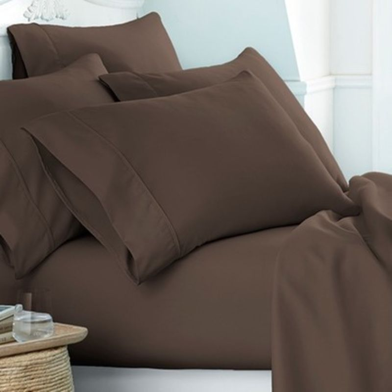 Microfiber Merit Linens Bed Sheets Sets - 6 Piece-Chocolate-Twin-Daily Steals