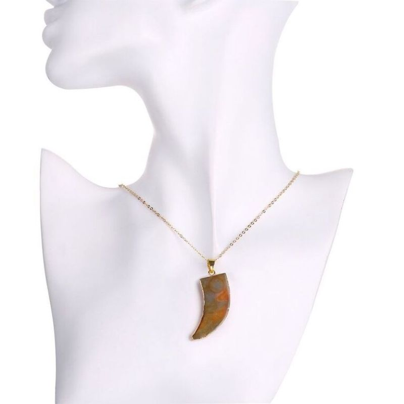 Orange Lab Created Gemstone Necklace in 18K Gold Filled-Daily Steals