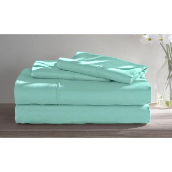 Dorm Room Bamboo Twin Extra Long Sheet Set- 3 Piece-Aqua-Full-Daily Steals