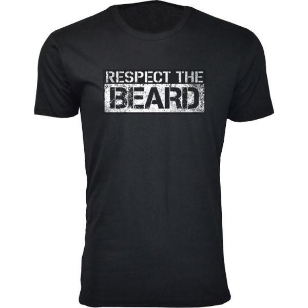 Daily Steals-Men's 'Awesome Beard' T-shirts-Men's Apparel-Respect the Beard - Black-2XL-