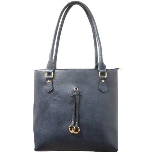 Patterson Leather Emily Tote-Blue-Daily Steals