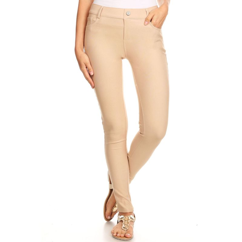 Ensemble de coton Jeggings-Camel-Large-Daily-Steals pour femme