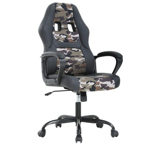 Ergonomic PU Leather Executive Office or Gaming Chair-Camo-Daily Steals
