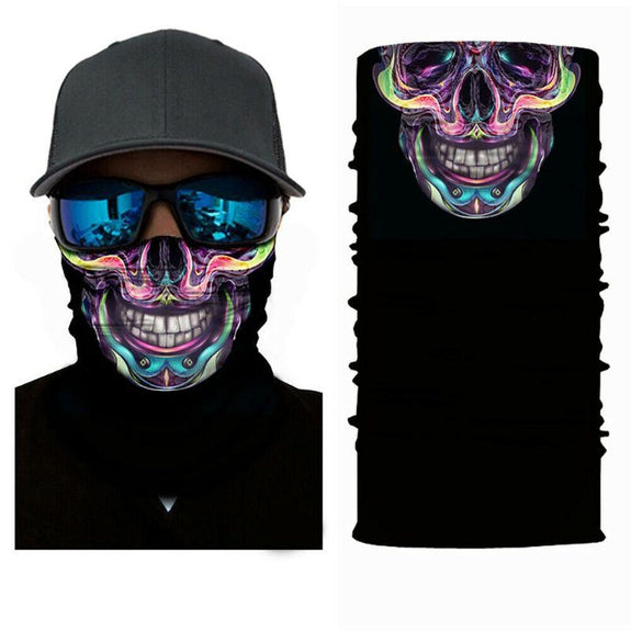 Face Mask and Neck Warmer with Dust and Sun UV Protection for Snowboarding-Skull Colored-Daily Steals