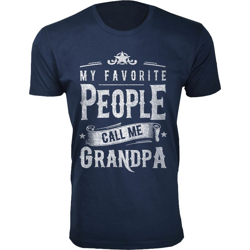 Men's Dad Grandpa My Favorite People Call Me T-Shirts-Grandpa - Navy-2XL-Daily Steals
