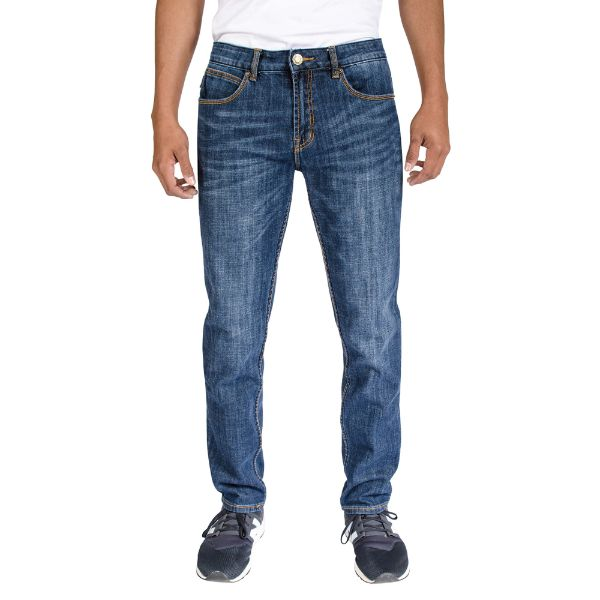Men's Stretch Skinny Slim Fit 5-Pocket Fashion Jeans-Indigo Medium Wash-28x30-Daily Steals