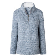 Zip Up Top Polaire Pull-Bleu-Large-Daily Steals