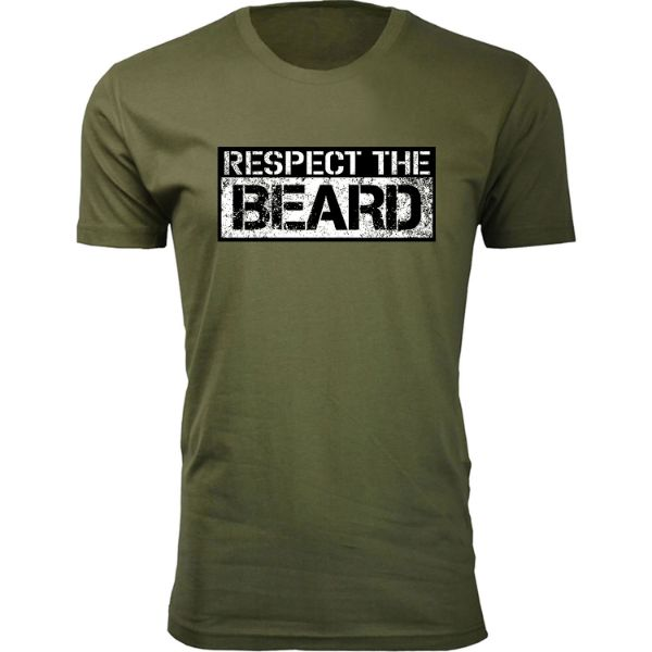 Daily Steals-Men's 'Awesome Beard' T-shirts-Men's Apparel-Respect the Beard - Military Green-S-