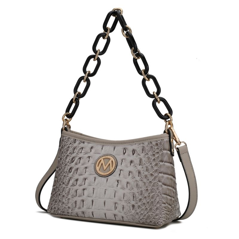 MKF Collection by Mia K Rossy Croco Vegan Leather Crossbody Bag