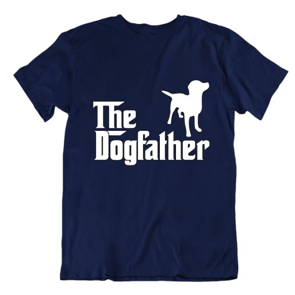 """The Dogfather"" T-Shirt-Navy Blue-Small-Daily Steals"