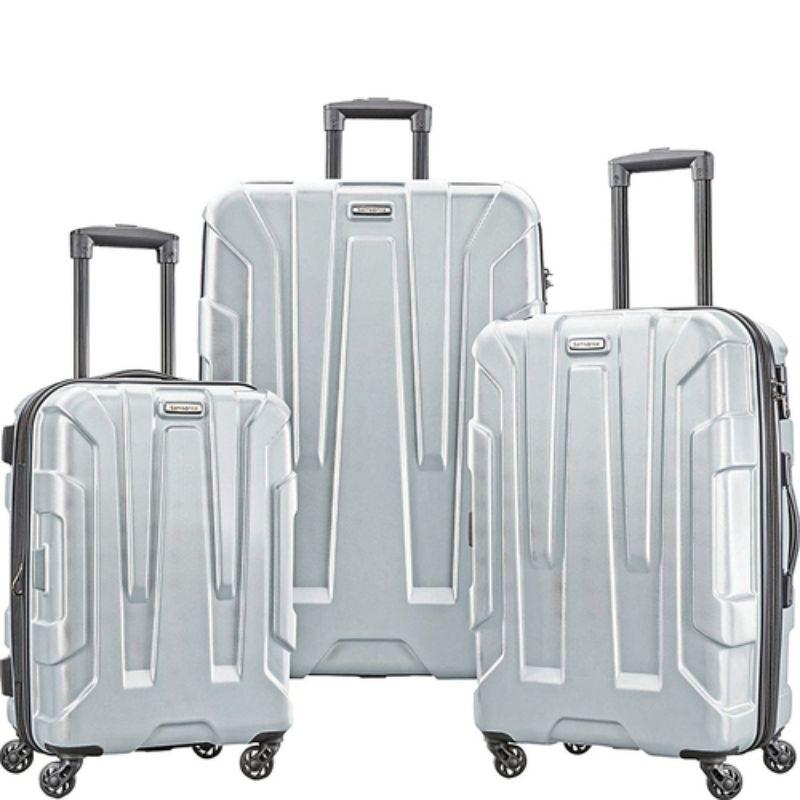 "Samsonite Centric 3pc Nested Hardside Spinner Luggage Set - 20"", 24"", 28""-Silver-Daily Steals"
