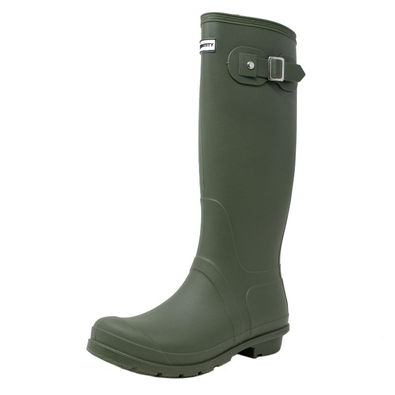 Exotic Identity Original Tall or Short Rain Boots-Green - Tall-6M-Daily Steals