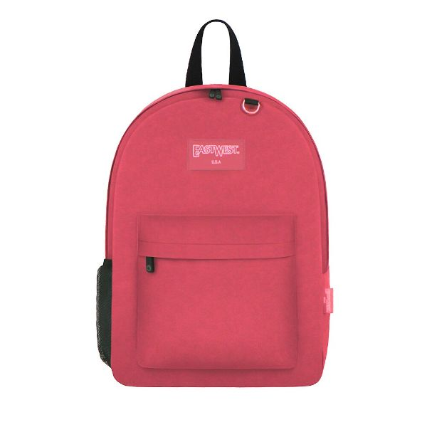 East West Classic Backpack with Key Holder and Bottle Holder-Pink-Daily Steals
