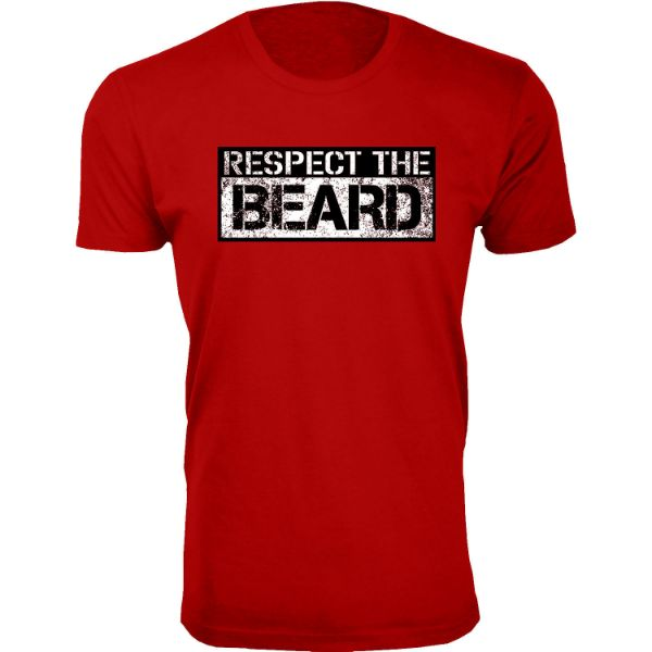 Daily Steals-Men's 'Awesome Beard' T-shirts-Men's Apparel-Respect the Beard - Red-S-