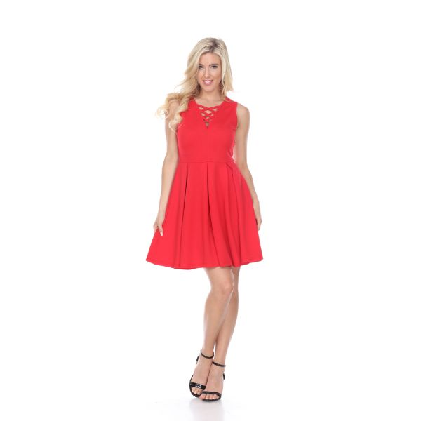 Shay' Fit & Flare Dress-Red-S-Daily Steals