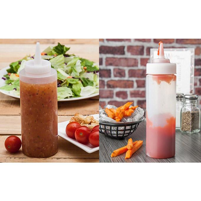 Clear Squeeze Bottles for Kitchen Condiments - 4 Pack-Daily Steals