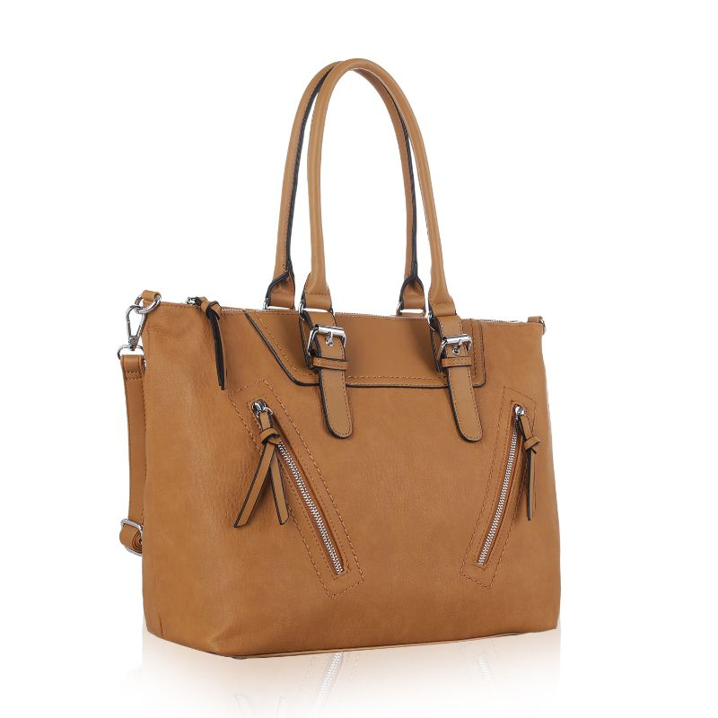 Leone Satchel Handbag by MKF-Tan-Daily Steals